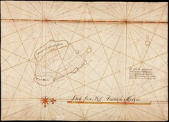 Historic compass chart of the Cocos islands[11]