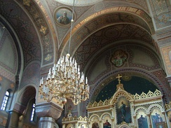 Interior of the Uspenski Cathedral.