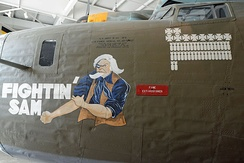 B-24 nose art at the National Museum of the Mighty Eighth Air Force