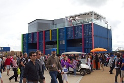 The BBC One and BBC Three 2012 Summer Olympics studios at the Olympic Park