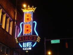 Sign outside B.B. King's Blues Club on Beale Street, Memphis