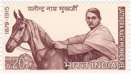 Bagha Jatin on a 1970 stamp of India
