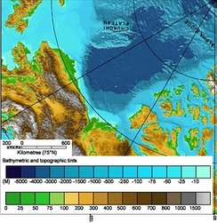 Topography of the Beaufort Sea area.