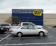 A Best Buy store in Germantown, Maryland that opened in 2002.