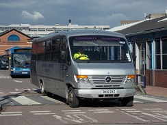 A Mellor-bodied Mercedes-Benz Vario operated by Chesterfield Community Transport
