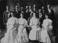 The East Texas Normal College graduating class of 1903. Rayburn is in the back row second from the right.