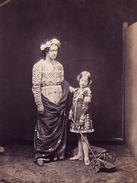 Charles Kean (left) and Ellen Terry in The Winter's Tale, 1856