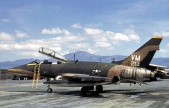 A USAF F-100F of the 352d TFS at Phu Cat Air Base, South Vietnam, 1971
