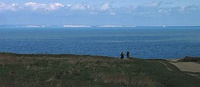 View of the White Cliffs of Dover, England, from Cap Gris Nez, France