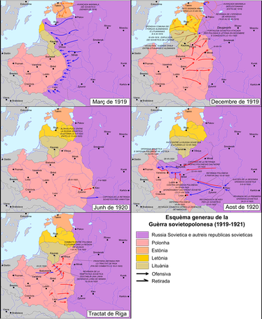 5 stages in the Polish–Soviet War.