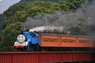 A Thomas the Tank Engine themed JNR Class C11 train in Japan, 2014.
