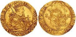 Scottish gold coin from 1609