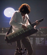 Jean-Michel Jarre playing an AX-Synth during his IN>DOORS tour