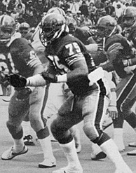 Covert, who wore #75 at Pitt, during the 1980 college season