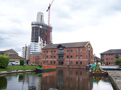 Leeds and Liverpool Canal near Granary Wharf in Leeds