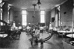 Children's ward c1908 with rocking horse