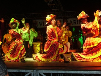 Martinique dancers in traditional dress