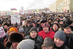 Anti-Putin protesters march in Moscow, 4 February 2012