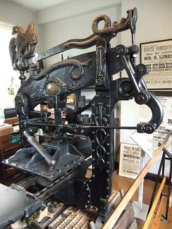 Columbian press at the Museum of Lincolnshire Life