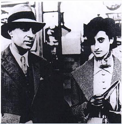 Nehru and his daughter Indira in Britain, 1930s