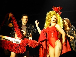 Gaga performing during her residency show at Roseland Ballroom, March 2014