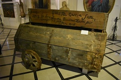 Cart to carry the victims of the 1813 plague in Malta, at the Żabbar Sanctuary Museum