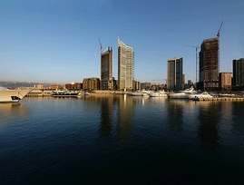 The Solidere development of the Beirut seafront and harbor