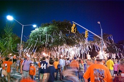 The Auburn tradition of rolling Toomer's Corner after a sports win