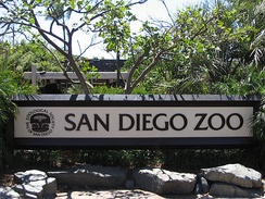 "Zoos are considered ""living museums"". This is the entrance of the San Diego Zoo in San Diego, California."