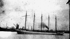 Pacific Coast offshore rum-runner Malahat, a five-masted schooner