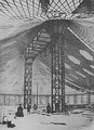 The world's first tensile steel Shell by Vladimir Shukhov (during construction), Nizhny Novgorod, 1895.