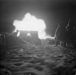 British night artillery barrage which opened the second Battle of El Alamein