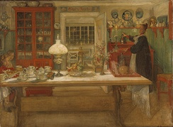 The Swedish artists Carl Larsson and Karin Bergöö Larsson were inspired by the Arts and Crafts movement when designing their home.