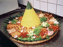 Tumpeng is an Indonesian national dish