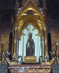 The statue of the venerated Black Virgin at Rocamadour