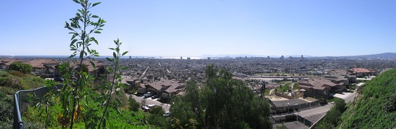 View of Long Beach from Skyline Drive on Signal Hill.