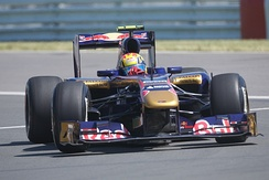 Alguersuari driving for Toro Rosso at the Canadian Grand Prix, where he finished eighth