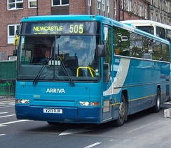 Plaxton Prima bodied DAF SB3000 in Newcastle in May 2009