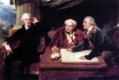 The Baring brothers, John II (centre) & Francis (left), with Charles Wall (right), by Sir Thomas Lawrence