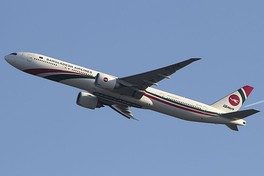 A Boeing 777-300 of Biman Bangladesh Airlines, the state owned flag carrier