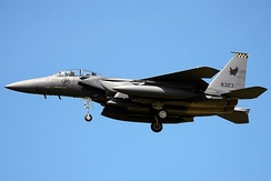 Singapore Air Force's F-15SG are Strike Eagle variants (40 units). Pilots also train in Australia, France and the United States due to severe airspace constraints.