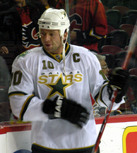 Brenden Morrow is the Stars' eighth all-time points and goals leader. He recorded 528 points and 243 goals playing with the Stars.