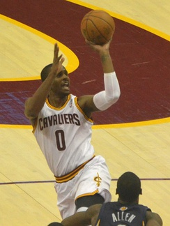 Miles with the Cavaliers in March 2013
