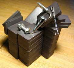 A stack of ferrite magnets
