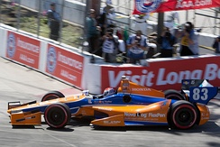 Charlie Kimball at the 2012 Toyota Grand Prix of Long Beach.