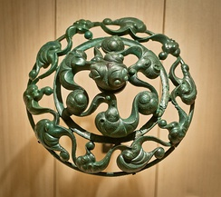 "Bronze fitting from France in the ""vegetal"" style"