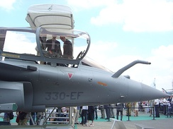 Forward section of Rafale on display at the Paris Air Show, 2005