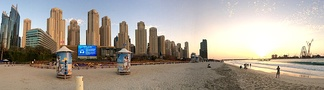 Dubai Marina beach in the Jumeirah Beach Residence (JBR)