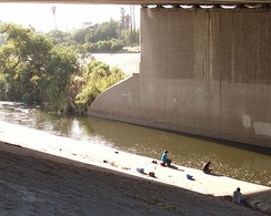 People fishing in the Elysian Valley River Recreation Zone