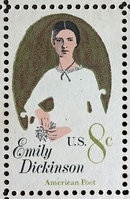 Emily Dickinson commemorative stamp, 1971